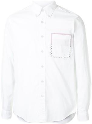 Contrast Pocket Long-Sleeved Shirt
