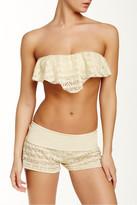 Reef Summer Breeze Crochet Ruffle Bandeau Bikini Top