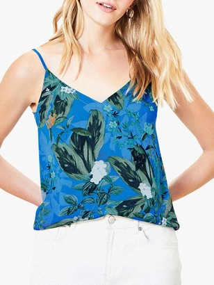 Oasis Tropical Print Cami Top, Blue