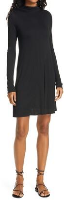 ATM Anthony Thomas Melillo Funnel Neck Long Sleeve Jersey Dress