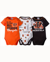 Gerber Babies' Cincinnati Bengals 3 Piece Creeper Set