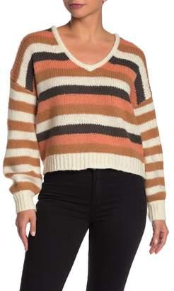 Madewell Colorblock Stripe Balloon Sleeve Knit Sweater (Regular & Plus Size)