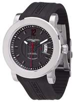 Jorg Gray Men's Quartz Analogue Watch JG8100-22 With Rubber Strap And Extension Clasp and Black Dial