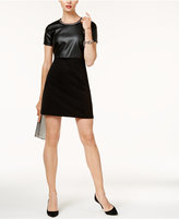 MICHAEL Michael Kors Faux-Leather Shift Dress