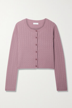 SABLYN Cleo Cable-knit Cashmere Cardigan