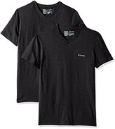Columbia Men's 2-Pack Performance Cotton Stretch V-Neck T-Shirt