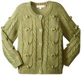 Pink Chicken Maude Sweater (Toddler/Kid) - Oil Green - 6 Years