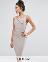 Vesper Pencil Dress With Origami Detail