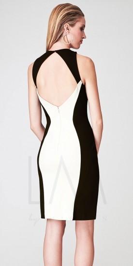 eDressMe LM Collection Halter Color Blocked Short Knit Sheath Dresses