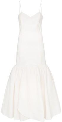 Rebecca De Ravenel sweetheart-neck flared dress