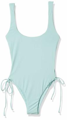 Bikini Lab Women's Lace Up Adjustable Side Tie High Leg One Piece Swimsuit