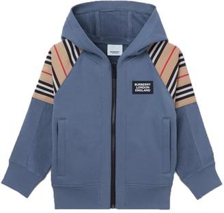 Burberry Kids Blue Zip-up Sweater