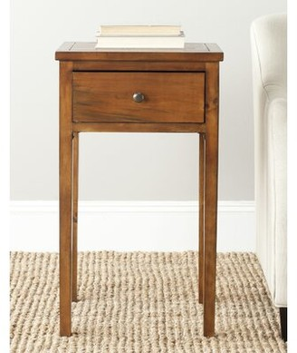 Ophelia Joanna Solid Wood End Table with Storage & Co. Color: Brown