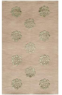 """Martha Stewart Rugs Medallions Hand-Knotted Silk/Wool Brown/Tan Area Rug Rugs Rug Size: Rectangle 5'6"""" x 8'6"""""""