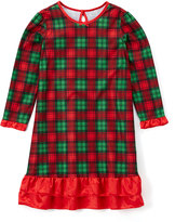 Red & Green Plaid Ruffle Nightgown - Toddler & Girls