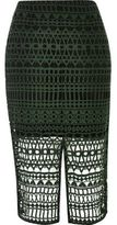 River Island Womens Green lace pencil skirt