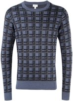Brioni grid print sweatshirt - men - Silk/Cashmere - 56