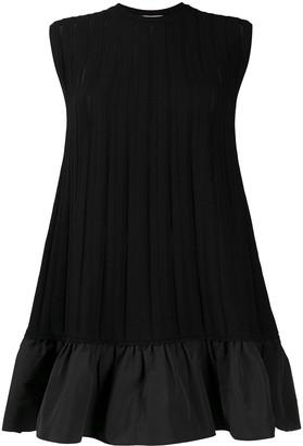 Valentino Ruffled Hem Knitted Sleeveless Dress