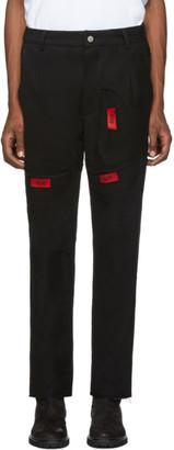 424 Black Reworked Tee Work Trousers