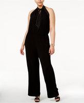 MICHAEL Michael Kors Size Tie-Neck Studded Jumpsuit