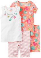 Carter's 4-Pc. Fish Cotton Pajama Set, Little Girls (2-6X) & Big Girls (7-16)
