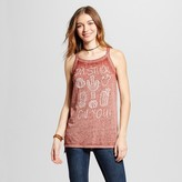 Modern Lux Women's Stuck On You Cactus Strappy Tank Rust - Modern Lux (Juniors')