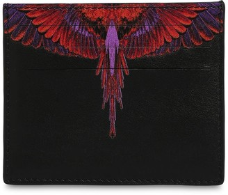 Marcelo Burlon County of Milan Printed Wings Leather Card Holder