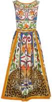 Dolce & Gabbana Floral Skater Dress, White, IT 48