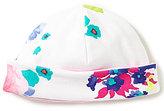 Joules Baby Girls Newborn-9 Months Reversible Floral-Print Beanie Hat
