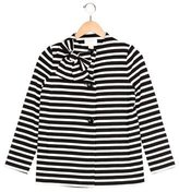 Kate Spade Girls' Bow-Accented Striped Jacket