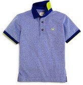 Armani Junior Armani Boys' Color Tipped Heather Pique Polo Shirt - Sizes 4-16
