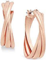 Charter Club Triple Twists Hoop Earrings, Only at Macy's