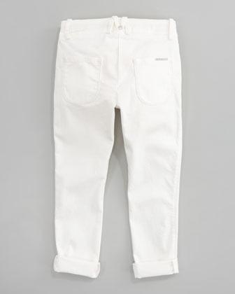 Little Marc Jacobs Stretch Sateen Slim-Fit Pants Sizes 6-10
