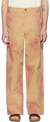 Jacquemus Beige and Red Le Pantalon Terraio Trousers