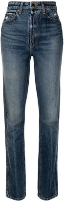 KHAITE Daria high-waist slim-fit jeans