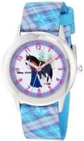 Disney Kids' W000263 Merida Stainless Steel Time Teacher Printed Strap Watch