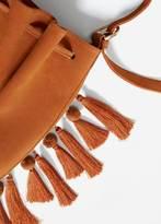 MANGO Tassels Leather Bag