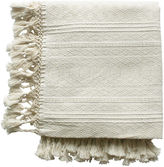One Kings Lane Vintage Cassill Cream Cotton Throw Blanket
