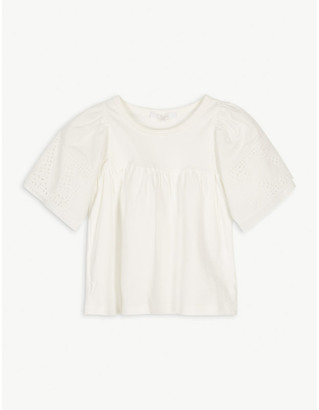 Chloé Ruffle cotton blouse 4-14 years