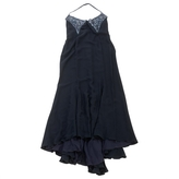 Valentino Navy Silk Dress