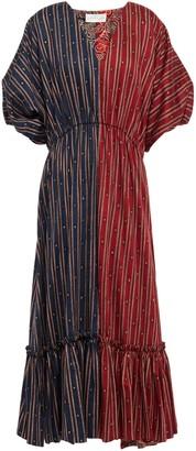 Sachin + Babi Gathered Printed Cotton Midi Dress