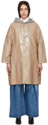 MM6 MAISON MARGIELA Beige and Grey Sweat Back Rain Coat