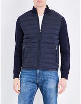 Ralph Lauren Purple Label Contrast-sleeve Quilted Jacket