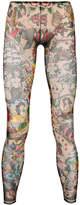 DSQUARED2 sheer tattoo illusion sleeve tights