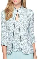 Alex Evenings Plus Two-Piece Printed Mandarin Collar Jacket and Camisole Twinset