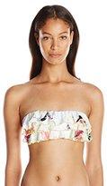 Pilyq Women's Summer Fleur Ruffle Bandeau Bikini Top