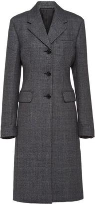 Prada single-breasted mid-length coat