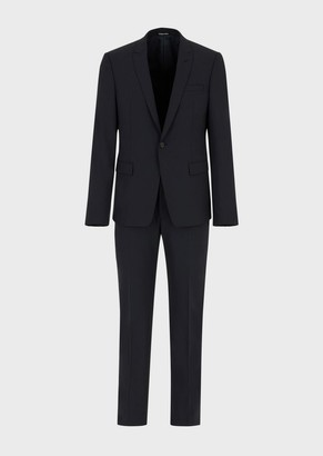 Emporio Armani Pure Bi-Stretch Virgin Wool Single-Breasted Suit