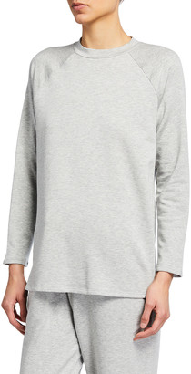 Eileen Fisher Raglan-Sleeve Fleece Tunic