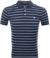 Ralph Lauren Stripe Polo T Shirt Navy